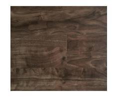 Lames PVC clipsables - Imitation parquet bois brun fonc (= 2.42 m)