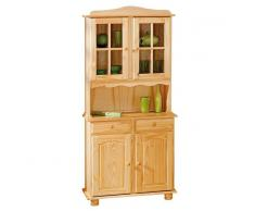 Depotmeubles Vaisselier 4 portes 2 tiroirs bois massif coloris naturel