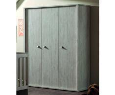 ELODIE Garde-robe à 3 portes ouvrantes pour chambre bébé/enfant coloris pin cottage