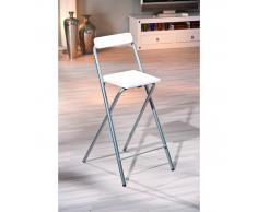 Depotmeubles chaise pour table de bar de couleur blanc