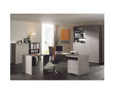 VIVO ensemble avec Bureau 160 cm et éléments rangement et classement coloris bouleau gris