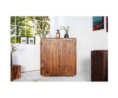 Depotmeubles Meuble bar 100 cmmoderne en bois massif coloris naturel
