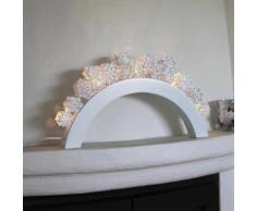 SNOWFALL - Chandelier LED Flocons Bois blanc H54cm - Lampe à poser Xmas Living Glass designé par