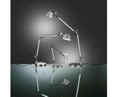 TOLOMEO MICRO - Lampe de bureau LED Alu Anodisé H37cm - Lampe à poser Artemide designé par Michele De Lucchi & Giancarlo Fassina