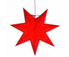 BOBO STAR - Etoile lumineuse Rouge Ø34cm - Guirlande et objet lumineux Xmas Living Glass designé par