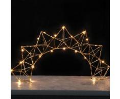 EDGE BOW - Lampe à poser Filament Laiton LED H27cm - Guirlande et objet lumineux Xmas Living Glass designé par