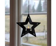 LED CANDLE STAR - Etoile suspendue Noir et Votive LED Ø24cm - Guirlande et objet lumineux Xmas Living Glass designé par