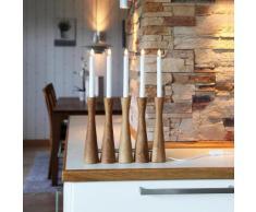 MIDJA - Chandelier Bois Chêne 5 LED H42cm - Lampe à poser Xmas Living Glass designé par