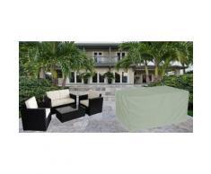 Housse pour salon détente canapé et fauteuils de jardin format L gris