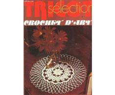 Tricot Selection - Crochet D'art / N°28 - Septebmre 1977 / Rideaux De Bibliotheque - Napperon Bel Ete - Coussin Mary Et Ken - Napperon Fleurs Rouges - Coussin - Napperon Les Pensees Etc...