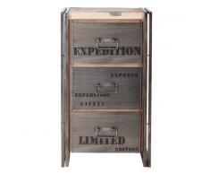 Tousmesmeubles Chiffonnier en bois 3 tiroirs - INDUSTRY - L 60 x l 40 x H 107