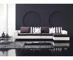 items-france NEWAGE - Canape contemporain tissu/similicuir 395x140x90