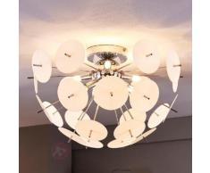 Plafonnier LED Lyrien, cache en plastique blanc