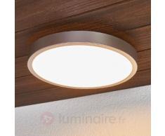 Plafonnier LED argenté Liyan pour la salle de bain