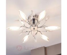 Plafonnier LED à motif floral Kibra