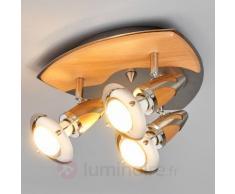 Plafonnier LED en bois Sharleen