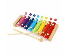 Mignon 8 Notes Musique Jouet Xylophone Instrument En Bois Avec Marteau Préscolaire Éducatif Pour Enfant Bébé