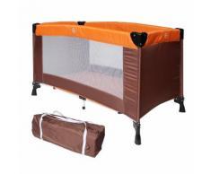 Lit Parapluie Pliable, Parc De Jeu Pour Bébé, Standard Ce, 125 X 65 X 76 Cm, Orange/Marron, Taille Déployée: 125 X 76 X 65 Cm