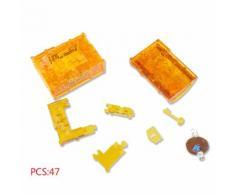 3d Cristal Puzzle Trésor Coffre Modèle Diy Gadget Blocs Bâtiment Jouet Cadeau