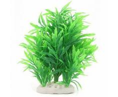 Moakoada®Plante Artificielle Eau Décoration Pour Fish Tank, Vert