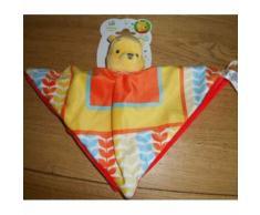 Doudou Plat Ours Winnie L'ourson Disney Baby Nicotoy Simba Bleu Jaune Orange Multicolore Peluche Jouet Enfant Bebe Naissance