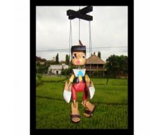 Marionnette Pinocchio Articulé À Fils En Bois 20 Cm Jouet Enfant Cadeau