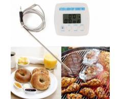 Pratique électronique Minuterie numérique Alarme Thermomètre Cuisine Cuisine BBQ Alimentation À la viande Probe Thermomètre Accessoires de cuisine