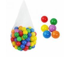 Monsieur Bébé ® Sac De 100 Balles De Jeu Ou De Piscine Multicolores Ø 5,5 Cm + Filet De Rangement