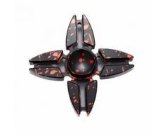 Noir Hand Spinner Tri-Fidget Étoile Quatre Pieds Main Spinner Fidget Toy Bureau Jeu Jouet Anxiété Stress Tdah Enfant Adultes Cadeau