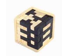 Intelligence Jouet En Bois Jeu Chinois De Casse-Tête De Cerveau 3d Iq Puzzle Pour Enfants Adultes