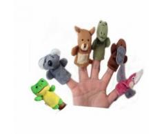 6pcs Doigt New Animal Marionnettes Peluche Poupée En Tissu Bébé Éducatifs Main Enfants Jouet