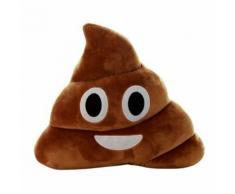 Yarui-World Mignon Emoji Smily Coussin Caca Forme Oreiller Poupée Jouet Jeté Drôle Enfant Cadeau Taille:25cm