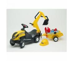 Baby Constructor Porteur Constructor + Remorque + Excavatrice + Casque + Pelle, Rateau, Tamis Vibrant, Moules A Sable & Arrosoir