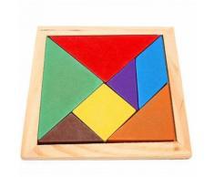 Jeu En Bois Iq Puzzle Intelligent Tangram Casse-Tête Puzzle Bébé Jouet Enfant O
