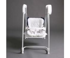 Splendide 2en1 Chaise Haute + Balancelle Électrique Blanche/Bleumarine Homey