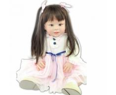 70 Cm Silicone Vinyle Reborn Baby Doll Lifelike Série Emulational Grande Taille Bébé Reborn Poupée Jouet Vêtements Modèle Filles Brinquedos