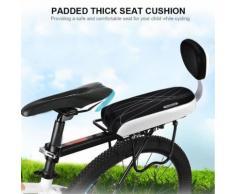 Siège De Vélo Arrière Pour Enfant Porte Bébé Pour Cycle Junior Porte Bagage Selle Vélo Coussin Dossier Accoudoir