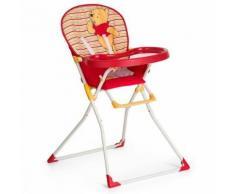 Chaise Haute - Chaise Haute Mac Baby Winnie L'ourson Rouge