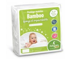 Babysom - Protège Matelas / Alèse Bébé - Bamboo - 70x140 Cm - Imperméable - Doux Et Respirant - Bouclette Éponge