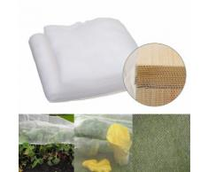Filet de Protection Maille Plante Légume Anti Insecte Serre Agricole Jardin Blanc 10*2.5M