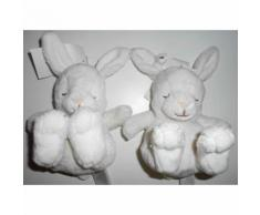 Doudou Lepin Blanc H&m Lot De Deux Doudous Lapins Blancs Peluches Hetm Yeux Fermes Jouet Enfant Bebe Naissance Soft Toys Blanket Comforter Bunny