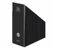 Herlitz Lot De 5 Boîtes De Classement Montana Carton Noir Dos De 115mm À L'unité