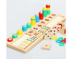 Enfant Bébé Jouet Educatif Montessori Bois Numéro Bloc Apprentissage Nombre 1-10