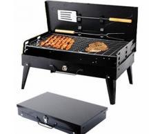 Barbecue à charbon Grille - BBQ Four de Charbon Portable - Pliable, Robuste