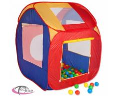Tectake Piscine À Balles Cabane Maison Tente Pop-Up De Jeux Pour Enfant 86 Cm X 84 Cm X 102 Cm Multicolore