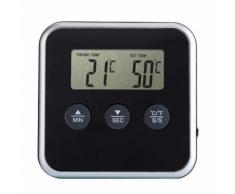 YOINS® Thermomètre à cuisson des aliments Temporisateur à barres LCD Sonde numérique Thermomètre à viande Barrière Température Indicateur Cuisine Outils de cuisson
