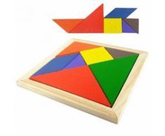 Jouet Jeux Casse-Tête Puzzle Tangram 7pcs En Bois Cadeau Pour Enfants