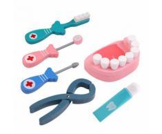 Jeu De Jouets De Rôle De Dentiste En Bois D'Enfants De 6pcs