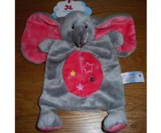 Doudou Éléphant Gris Et Rose Nicotoy Simba Toys Benelux Plat Étoiles Jouet Bébé Naissance