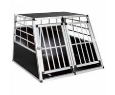 Cage, Caisse, Box De Transport Double Pour Chien En Aluminium Avec Cloison Amovible Confort ++